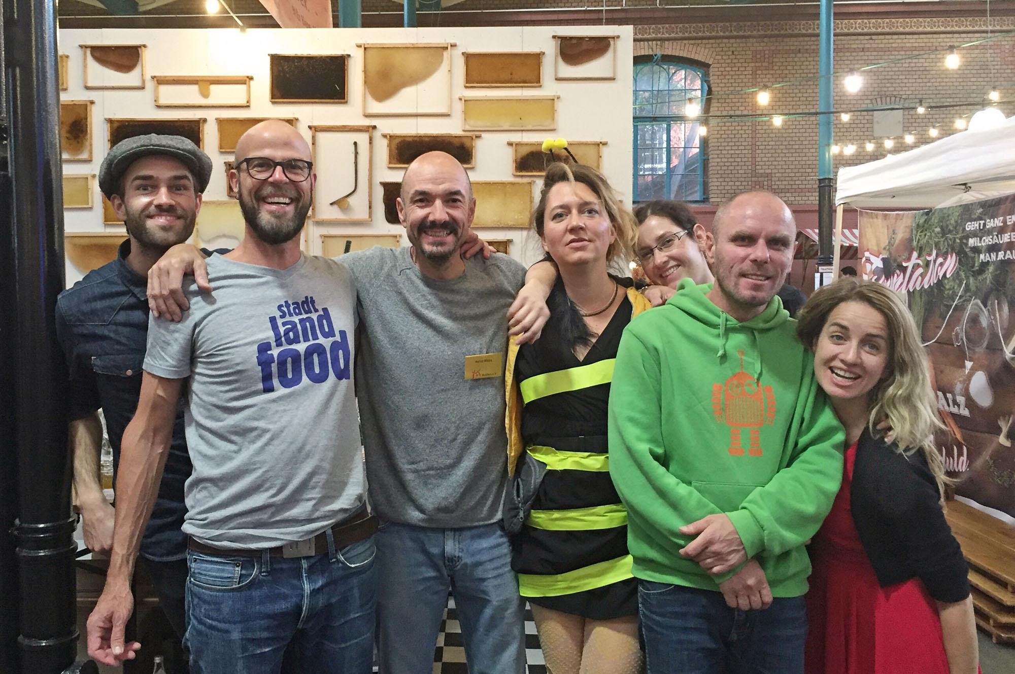 StadtLandFood 2016 Mellifera Berlin Team