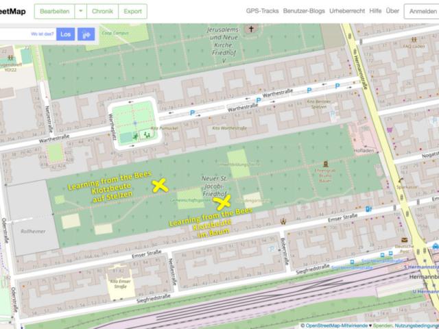 OpenStreeMap - Klotzbeuten im Prinzessinnengarten Kollektiv St. Jacobi