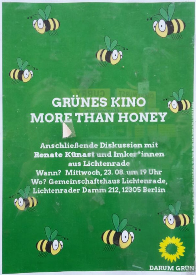 Grünes Kino - More than honey - Renate Künast