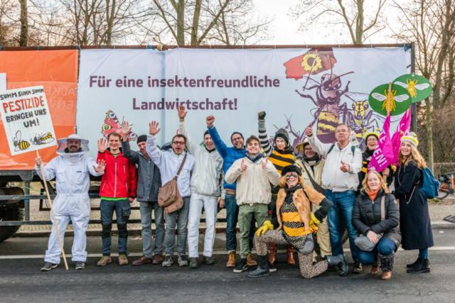 Wir haben es satt!-Demo 2020 Mellifera Berlin Team · Foto: Florian Amrhein
