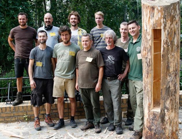 Die polnisch und deutschen Ausbilder des Zeidlerei Workshops von Learning from The Bees 2019 - Foto: Patrick Lindhof