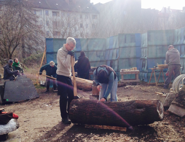 Klotzbeuten Workshop Prinzessinnengarten Neukölln