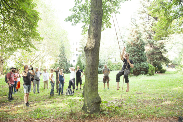06 Zeidlerei Workshop, Climbing technics at Prinzessinnengarten Neukölln | Foto: Onyx Baird