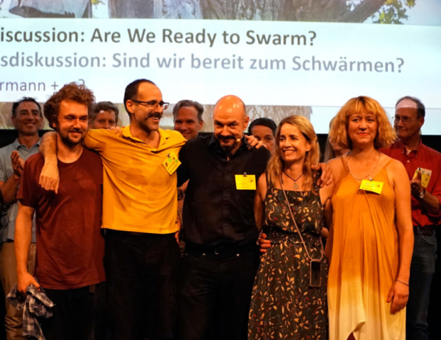 LFTBB Conference, the Organisation Team: Ingmar Zech, Steve Rogenstein, Heinz Risse, Ilona Duncombe & Silke Meyer | Foto: Patrick Lindhof
